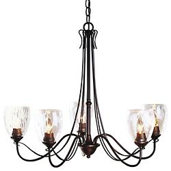 Trellis Five Arms Chandelier With Water Glass