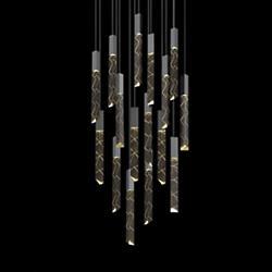 Trinity 16-Light LED Square Pendant
