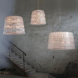 Tuile De Crystal Suspension