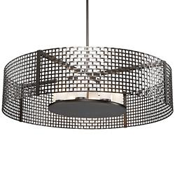 Tweed Drum Chandelier