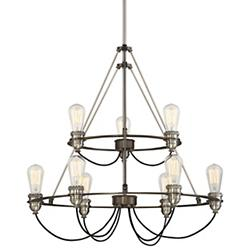 Uptown Edison Two-Tier Chandelier
