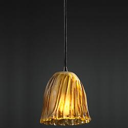 Veneto Luce Mini Pendant (Tulip/Amber/Nickel) - OPEN BOX
