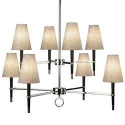 Ventana 2-Tier Chandelier (Polished Nickel) - OPEN BOX