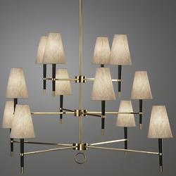 Ventana 3-Tier Chandelier (Antique Brass) - OPEN BOX RETURN