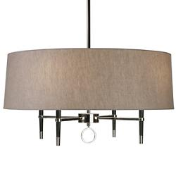 Ventana Single-Tier Chandelier (Nickel) - OPEN BOX RETURN