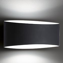 Voila Glass Wall Sconce (Black/Small) - OPEN BOX RETURN