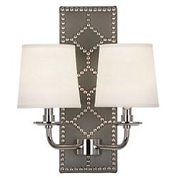 WILLIAMSBURG Lightfoot Wall Sconce (Gray/Nickel) - OPEN BOX
