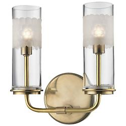 Wentworth 2 Light Wall Sconce (Aged Brass) - OPEN BOX RETURN
