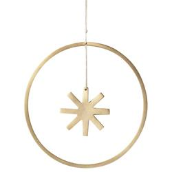 Winterland Brass Star Ornament - Small