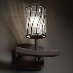 Wire Glass Archway Wall Sconce