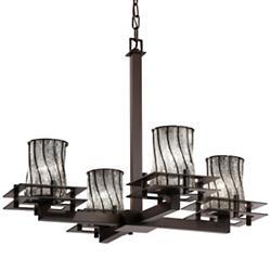 Wire Glass Metropolis Chandelier