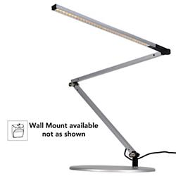 Z-Bar Slim Gen 3 Desk Lamp (Silver/Wall/Warm) - OPEN BOX