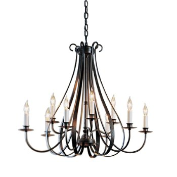 Sweeping Taper Nine Arms Chandelier