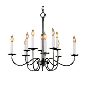 Simple Lines Ten Arm 2-Tier Chandelier