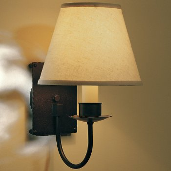 Single Light Wall Sconce With Shade