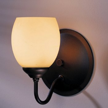 Simple Lines Single Light With Dome Glass Wall Sconce - Sml