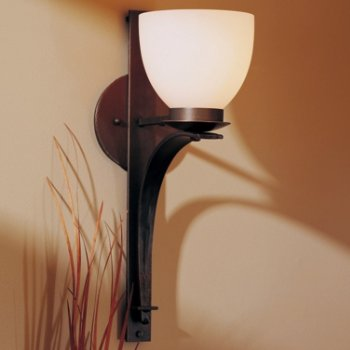 Tapered Pierced Wall Sconce With Glass