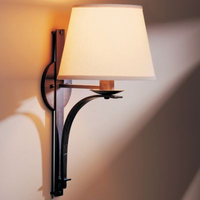 Wall Sconces Lamps : Tapered Pierced Wall Sconce With Shade by Hubbardton Forge at Lumens.com