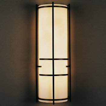 Extended Bars Wall Sconce With Faux Alabaster
