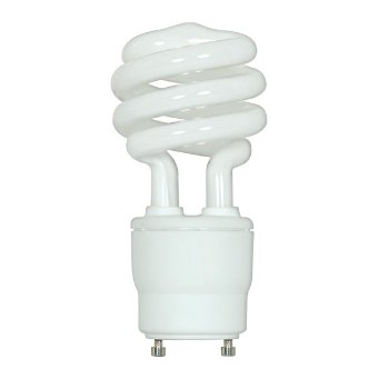 18W 120V T2 GU24 Mini Spiral CFL Bulb