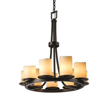 CandleAria Dakota 9 Light Ring Chandelier