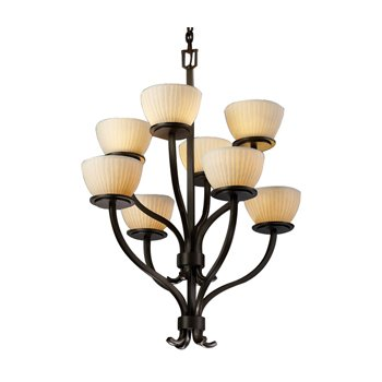 Limoges Sonoma Bowl 2-Tier Chandelier