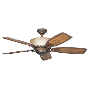 Golden Iridescence Ceiling Fan