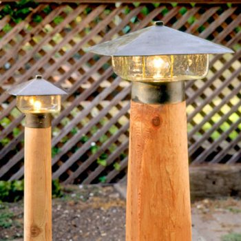 Outdoor Lamp Mounting Post
