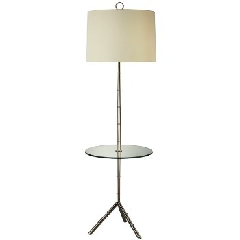 Meurice Nickel Tray Table Floor Lamp