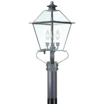 Montgomery Outdoor Postmount with Glass Top