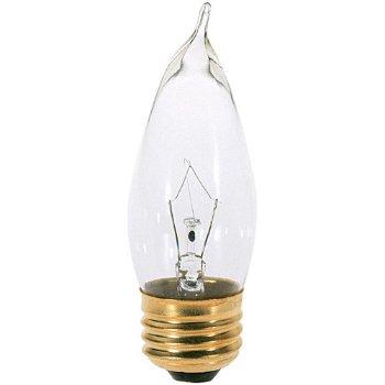 25W 120V CA10 E26 Clear Bulb
