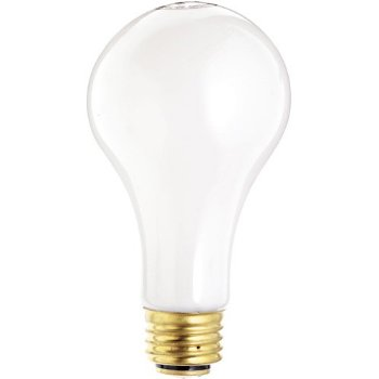 50/100/150W 120V A21 E26 3-Way White Bulb