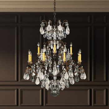 Renaissance Rock and Color Chandelier