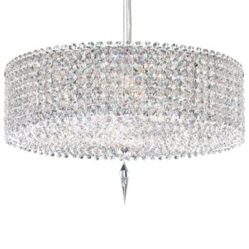 Matrix Cylindrical Drum with Crystal Medallion