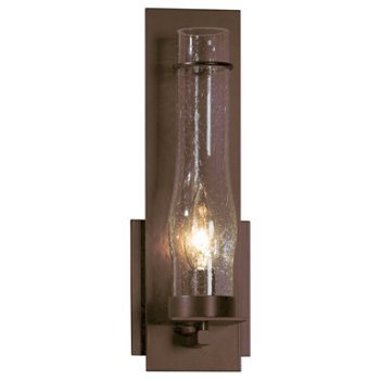 New Town Wall Sconce with Seedy Hurricane Clear Glass
