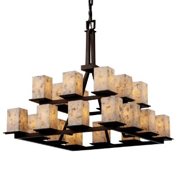 Alabaster Rocks! Montana 2-Tier Chandelier