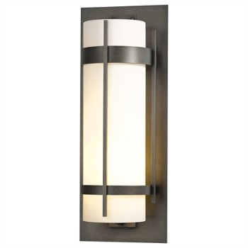 Banded Aluminum Extra Large Outdoor Wall Sconce