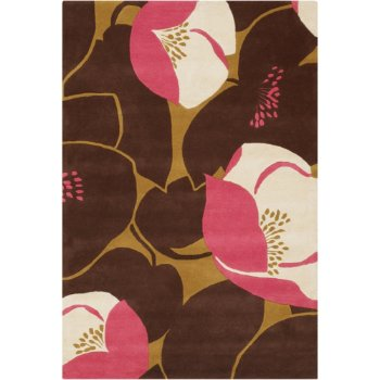 Field Poppy Wool Rug