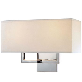 Fabric Wide Wall Sconce (Chrome/White) - OPEN BOX RETURN