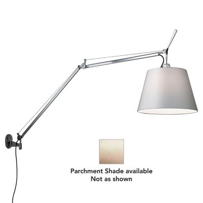 Tolomeo w/ Shade Wall Lamp (J Bracket/Parchment) - OPEN BOX by Artemide at Lumens.com