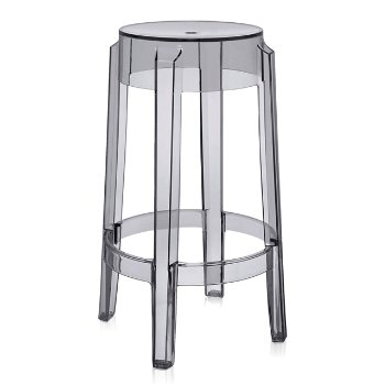 Charles Ghost Stool (Smoke Grey/Medium) - OPEN BOX RETURN