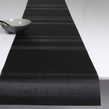 Tuxedo Stripe Table Runner (Black) - OPEN BOX RETURN