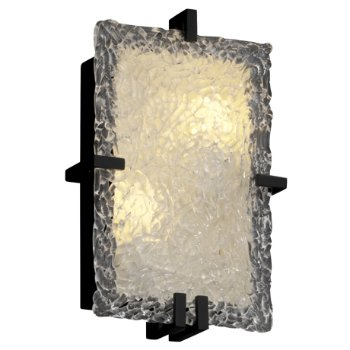 Veneto Glass Clips Rectangular Wall Sconce