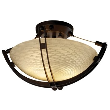 Fusion Round Semi-Flush Bowl with Crossbar
