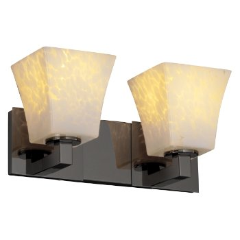 Fusion Square Flared Drop Shade Modular Bath Bar
