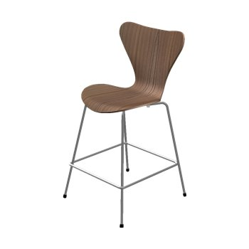 Series 7 Counter Stool - Natural Veneer