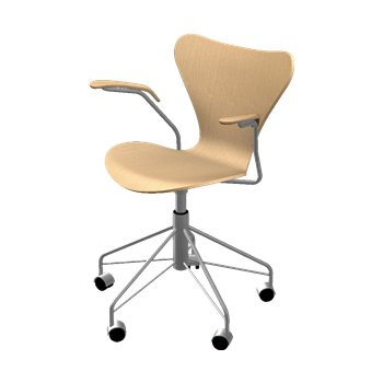 Series 7 Swivel Armchair - Natural Veneer