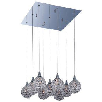Brilliant Square Multi-Light Pendant