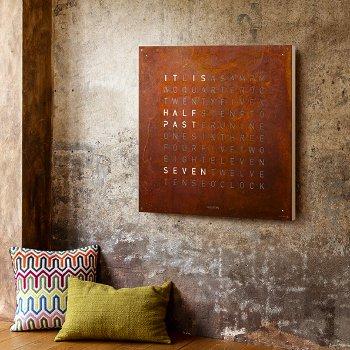 QLOCKTWO Creator's Edition Rust Wall Clock