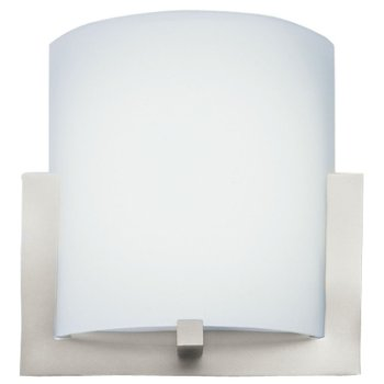 Bow Wide Wall Sconce (Nickel/Incandescent) - OPEN BOX RETURN